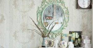 A vintage mirror.