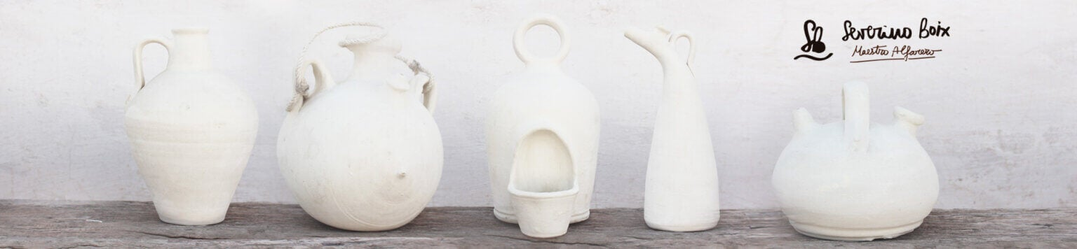 Hand crafted earthenware jugs from Jose Angel Boix