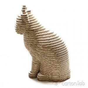 Cardboard cat.