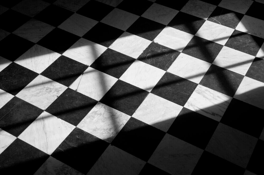 Black and white tiles can create a real feature