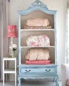 Vintage linen closet.