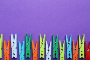 Clothes pegs.