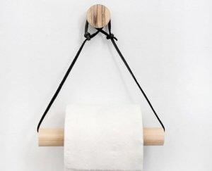 DIY bathroom ideas: toilet roll holder.