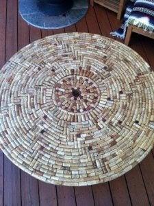 DIY cork mat.