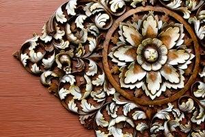 Floral metalwork.