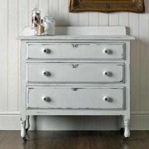 A vintage wooden dresser.