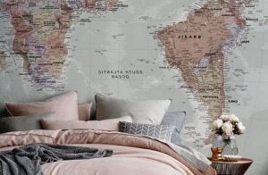 Map of the world wallpaper.