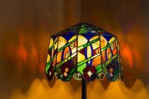 The Tiffany lamp.