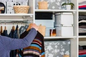 A tidy closet.
