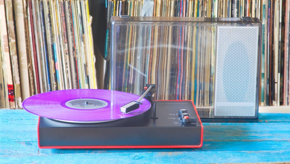 A modern record player.