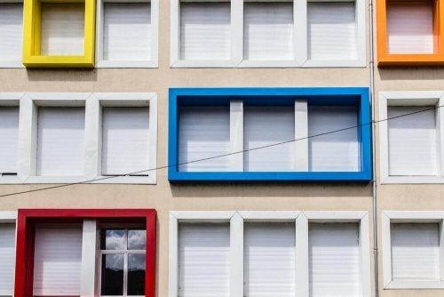 Mondrian inspired architecture.