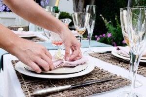 Table etiquette.