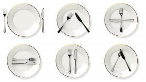 The language of cutlery.