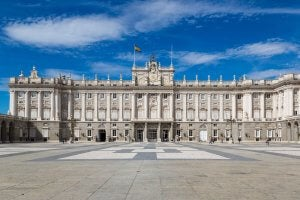 The Royal Palace of Madrid.