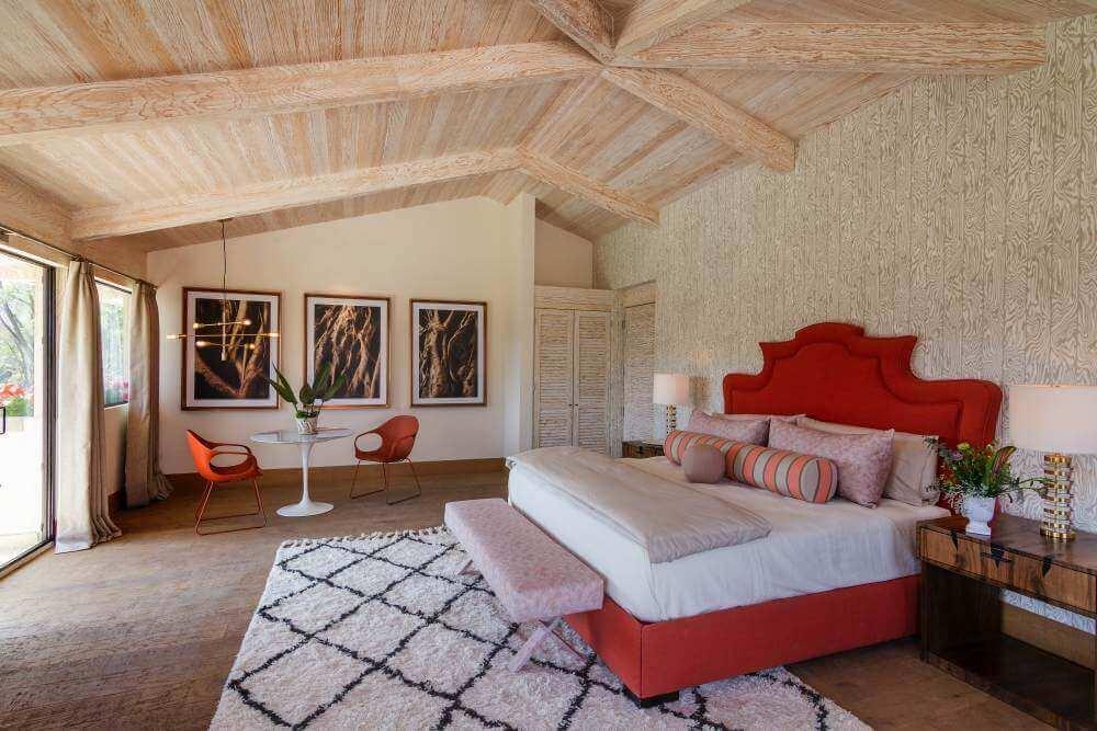 A bedroom designed by Sofia Aspe