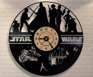 Star wars wall clock.