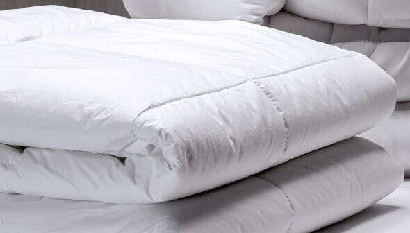 A thinner synthetic comforter