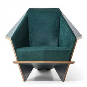 Origami inspired chair.