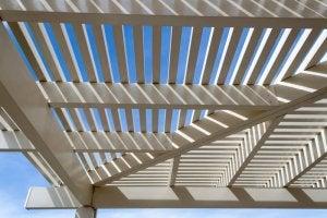 Garden trellis roof.