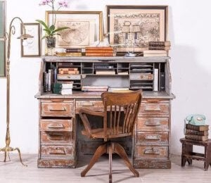 Antique writing desk.