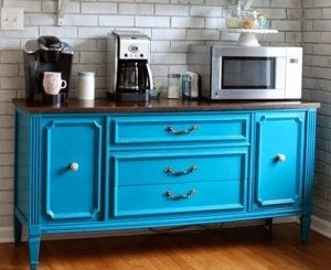 Vintage items: restored dresser.