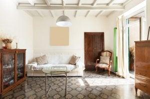 Rustic furniture.