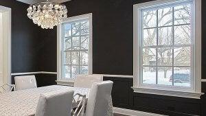 Door and window casing.