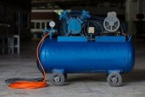 Portable air compressors.