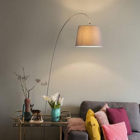 An arc lamp over a reading area