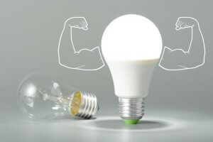 LED lighting is powerful and highly efficient.