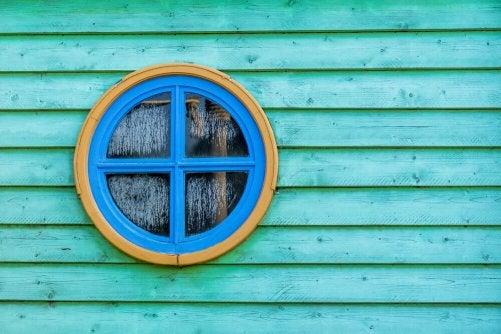 A round window.