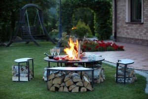 Build your own fire pit.