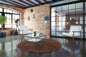 Industrial-style apartment.