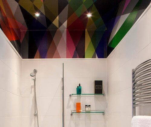 Stretch ceilings have many advantages for residential bathrooms