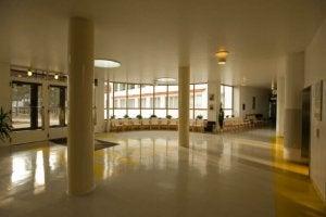 Hospital lobby.