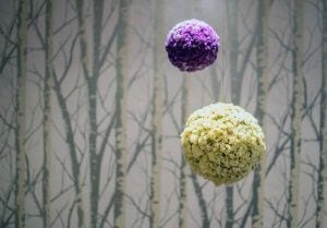 Balls of dried flowers