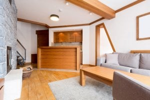 Wooden interiors.