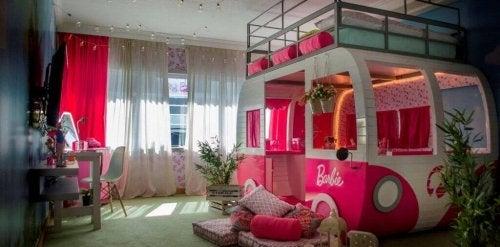 Barbie bedroom.