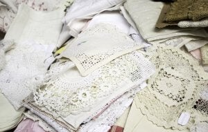Embroidered cloth.