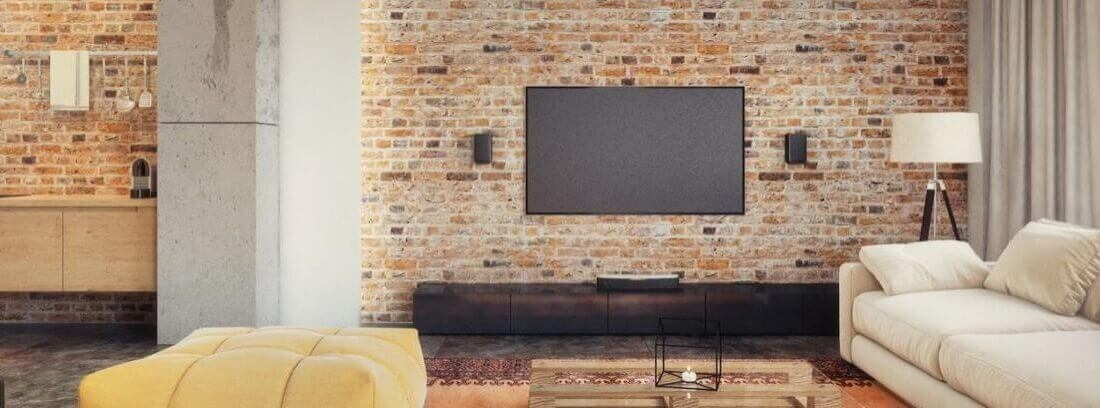 A brick wall for the TV.