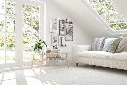 A bright room.