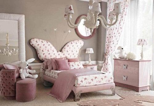 A butterfly bedroom.