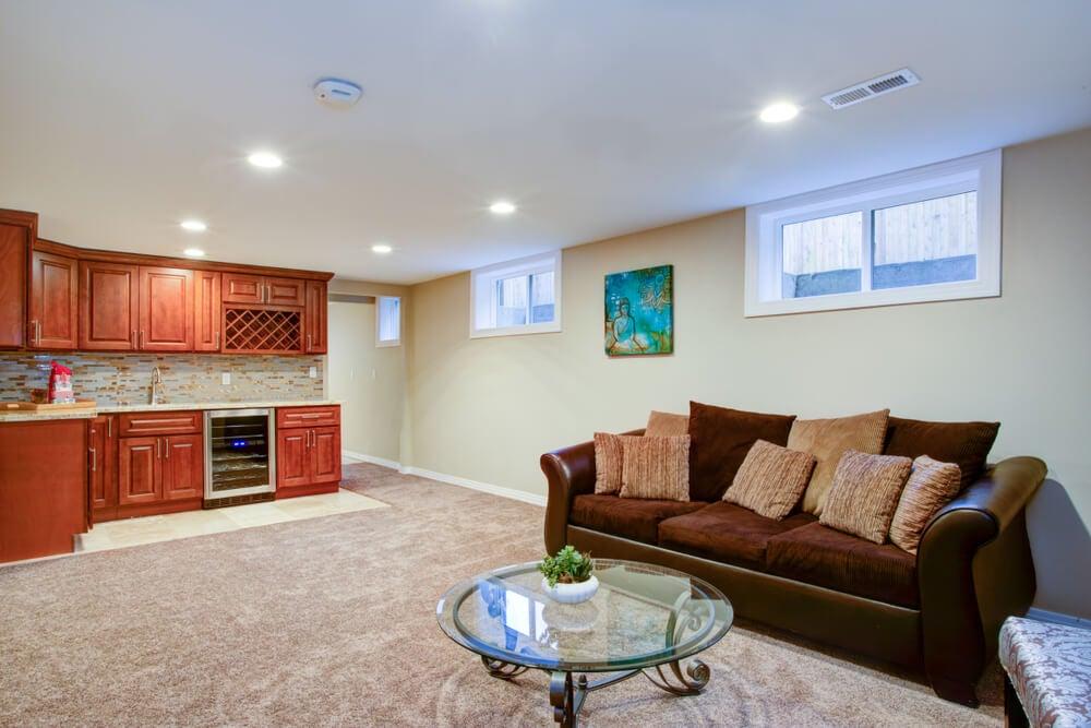 A basement renovation.
