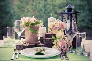 A spring table.