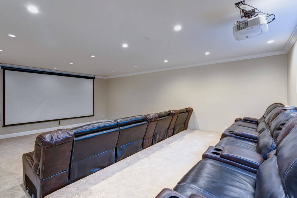 A home movie theater.