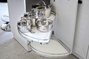 Kitchen pans.