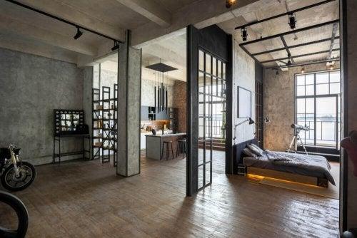 An open, spacious loft.