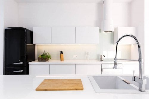 A minimalist kitchen.