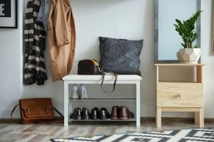 The main entrance of your home should never be cluttered.