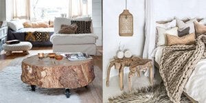 Various uses of natural materials in your home